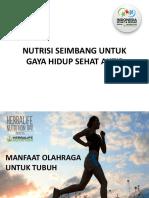 Nutrisi Seimbang Untuk Gaya Hidup Sehat Aktif