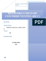 Registro Unico de Contribuyentes