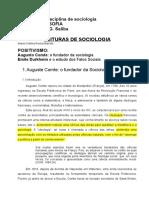 57810997 Texto POSITIVISMO Auguste Comte e Durkheim