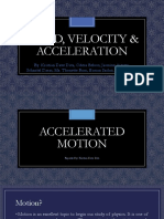 Speed, Velocity & Acceleration (Physics Report)