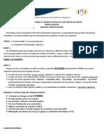 Orientaciones Para El Trabajo Escrito de Sustentación de Inglés Novenos 2017