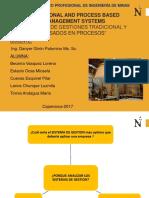SISTEMAS DE GESTIÓN TRADICIONAL Y BASADOS EN PROCESOS