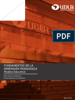 Desarrollo Fundamentos Dimensión Pedagógica
