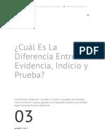 ¿Cuál Es La Diferencia Entre Evidencia, Indicio y Prueba