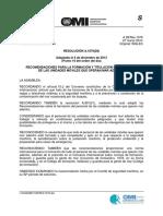 A 1079 (28) Formación y Titulación Del Personal de Las Unidades Móviles Que Operan Mar Adentro