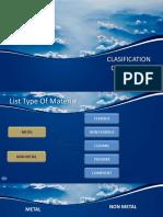 classifikasi material