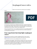 Esophageal Cancer Prevention