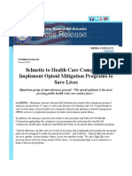 Schuette to Health Care Companies