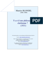 """""""Y-A-t-il Une Philosophie Chrétienne"""" (1931)"""