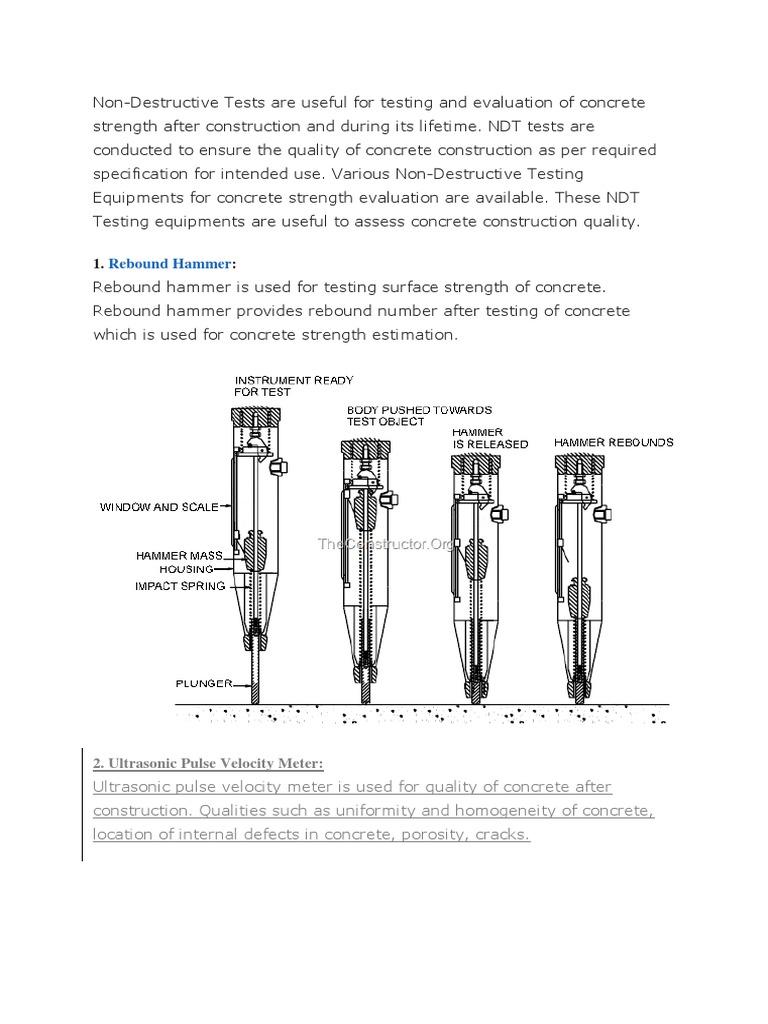 Non Destructive Test   Nondestructive Testing   Concrete
