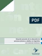 Situación presente de la educación de personas jóvenes y adultas en Argentina
