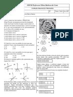 BIMESTRAL de Matemática Márcio 1º Anos E-F- Tarde- Márcio Flávio
