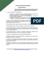 Anexo 2- 10 Reglas Criticas de Seguridad
