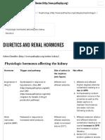 Diuretics and renal hormones | McMaster Pathophysiology Review