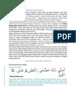 Bacaan Niat Dan Doa Setelah Shalat Dhuha