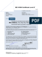 1MRG001947 B en KEMA IEC 61850 Certificate for 670 Series 1.2