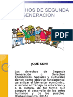 Derechos de Segunda Generacian Diapositivas