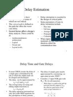Delay time estimation in digital design
