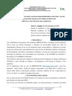 Edital Nº 13.2018 - Ciência e Teconologia de Alimentos - 2018.1