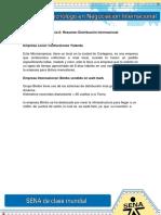 Evidencia 6 Resumen Distribucion Internacional