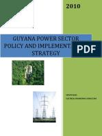 Guyana Power Sector Policy
