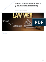 Lawweb.in-whether Prosecution US 340 of CRPC is to Be Instituted by Court Without Recording Finding