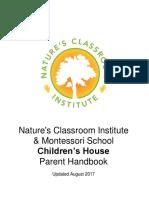 2017-2018 Children's House Handbook