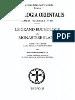 Patrologia Orientalis Tome XXVIII - Fascicule 2 - No. 135 - Lanne. Le Grand Euchologe du Monastère Blanc.