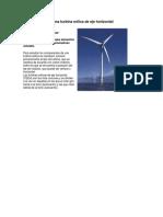 Componentes de Una Turbina Eólica de Eje Horizontal