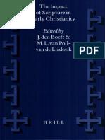 [VigChr Supp 044] J. Den Boeft, M. L. Van Poll-van de Lidonk - The Impact of Scripture in Early Christianity, 1999.pdf