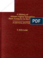 A History of African Higher Education from Antiquity to the Present