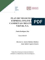 Modelo de Negocio DISEÑO de CAMISAS