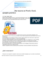 Como Crear y Grabar Macros en Word y Excel, Ejemplos Prácticos