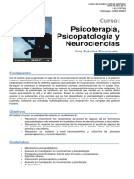 Programa Oficial Curso Psicoterapia, Psicopatología y Neurociencias.