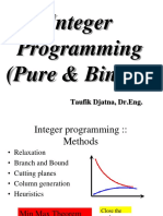 Integral Pogramming(ILP)