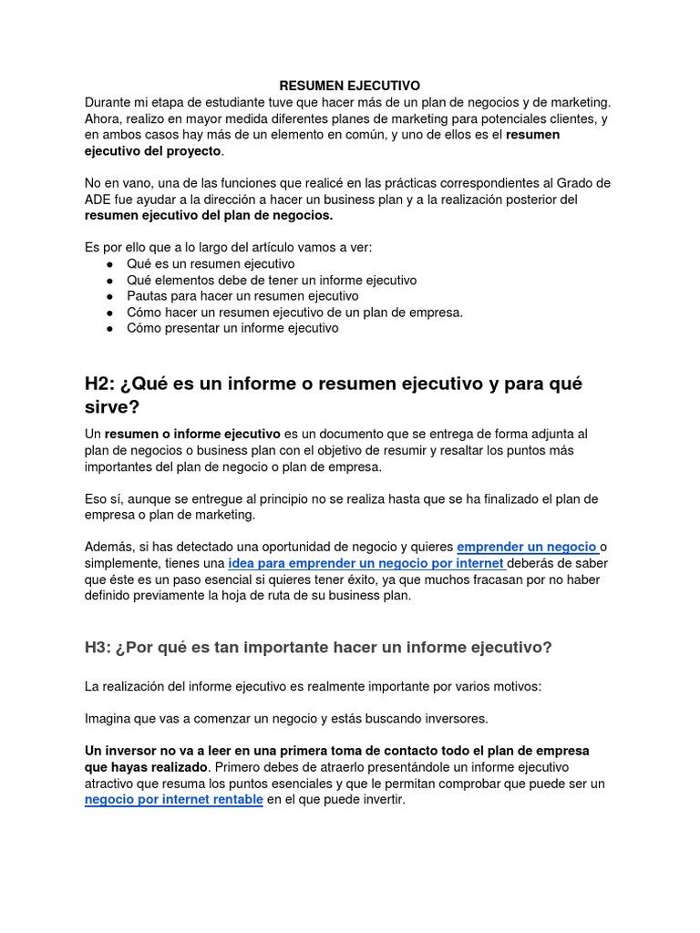 Contemporáneo Plantilla De Resumen Ejecutivo Ppt Imagen - Ejemplo De ...