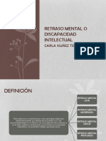 Retraso Mental o Discapacidad Intelectual