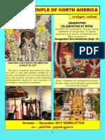Murugan Temple October November December 2017 Newsletter