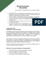 Eje Del Currículum Resumen