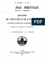 Patrologia Orientalis Tome XVIII - Fascicule 5 - Kratchkovsky et Vasiliev. Histoire de Yahya-Ibn-Sa´ïd d'Antioche.