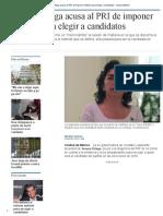 Ivonne Ortega Acusa Al PRI de Imponer Método Para Elegir a Candidatos - Grupo Milenio