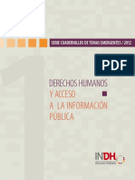 Derechos Humanos y Acceso a La Informacin Pblica INDH