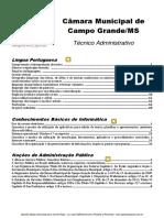 Apostila Opção Concurso Camara Municipal Campo Grande/MS