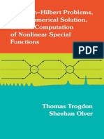 Riemann-Hilbert Problems, Their Numerical Solution and the Computation of Nonlinear Special Functions