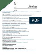 CCA Headlines October 16-20, 2017.Asd