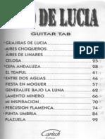 Paco de Lucia Partituras