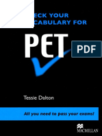 Check Your Vocabulary for PET_ All You Nee - Tessie Dalton