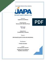 Tarea I de Contabilidad y Finanzas