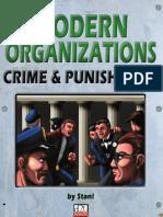 modern d20 the Game Mechanics Modern Organizations Crime & Punishment