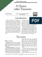 d20 Ronin Arts A Dozen Wooden Treasures